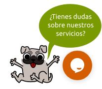 Tawk.to me permitió poner este diseño personalizado para la burbuja del chat.
