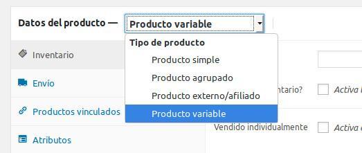 Elección de producto variable